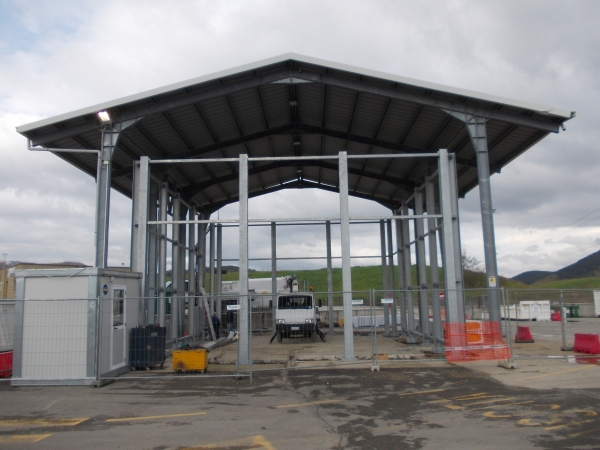 steel structure for storage use