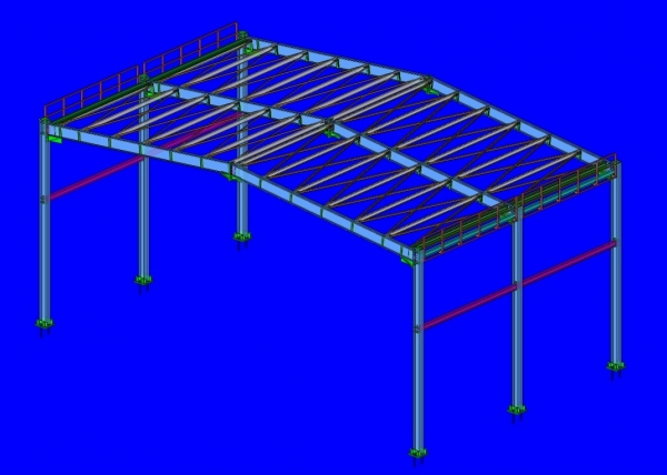 steel structure for industrial use