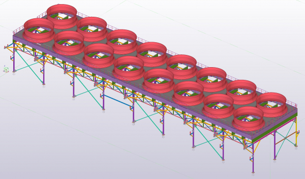 supporting steel structure for power plant in El Salvador_TEKLA